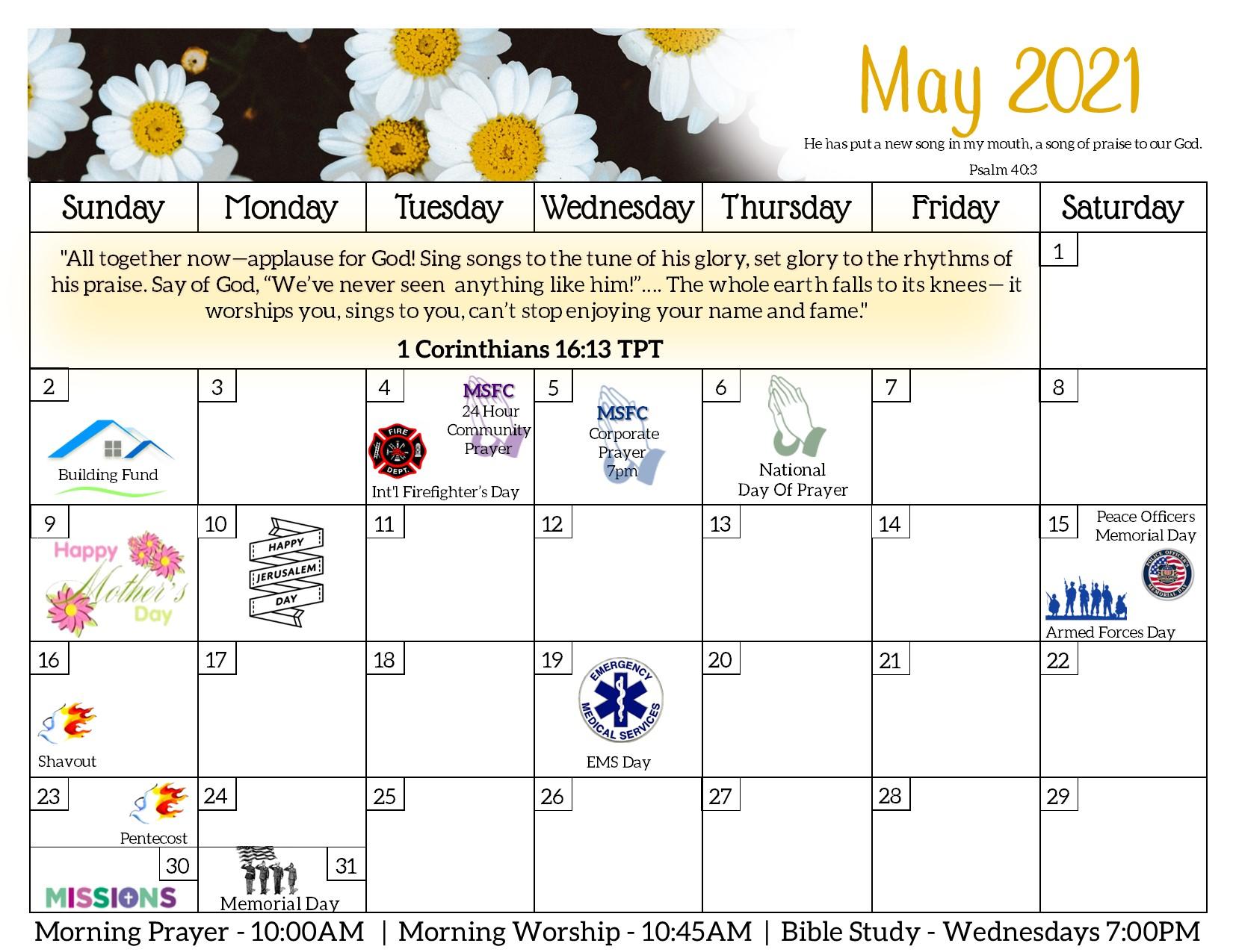 MorningStar Family Church Thurmont APR2021 Calendar